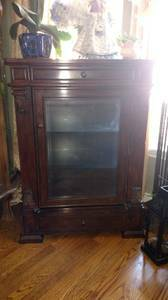 Photo Beautiful Beveled Glass Curio Cabinet - $240 (SW Fort Collins)