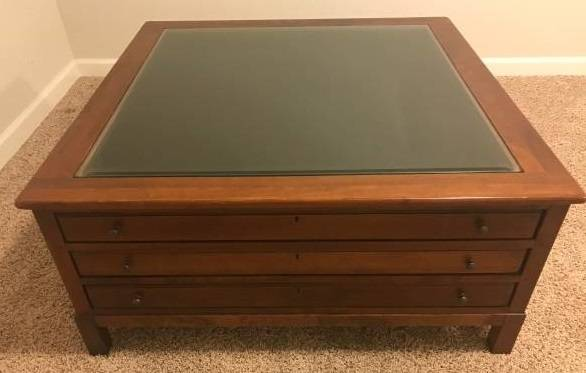 Photo Bob Timberlake 3-drawer MAP Display Table AND 2 matching End Tables - $1,000 (Eaton)