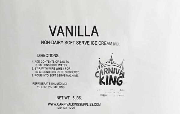 Photo Carnival King 6 lb. Vanilla Soft Serve Ice Cream Mix - 6Case - $35 (Greeley)
