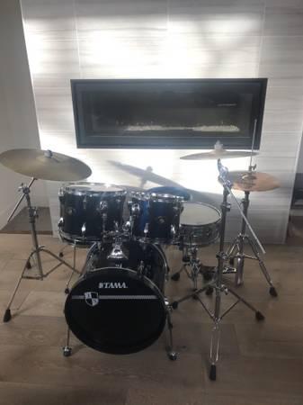 Photo Drum kit whardware- midnight blue - $625 (Fort Collins)