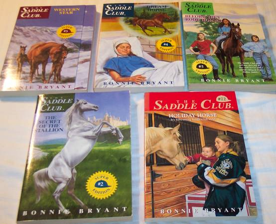 Photo Five books from The Saddle Club series - $10 (CionS. Loveland)