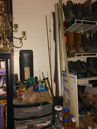 Photo Fly Fishing Equipment, Poles, Reels, Tackle, Tackle Pouch. $10-$70. Ea (Greeley)