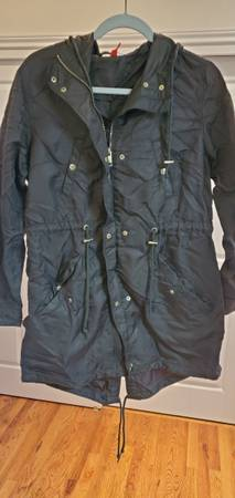Photo HM Divided Olive-Green Long Rain Jacket Size 12 - $50 (Fort Collins)