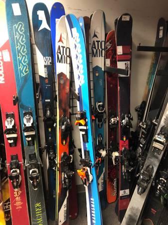 Photo Kids trade up ski and snowboard program. Adult demo ski season rental - $119 (Longmont)
