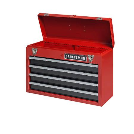 Photo Like New Craftsman 4-Drawer Portable Tool Chest Red Steel Box - $75 (Loveland)