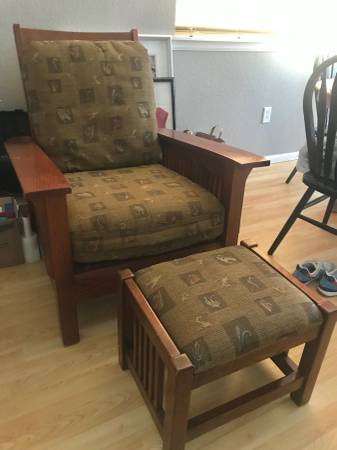 Photo Mission Style Lounge Chair with Ottoman - $150 (Loveland)