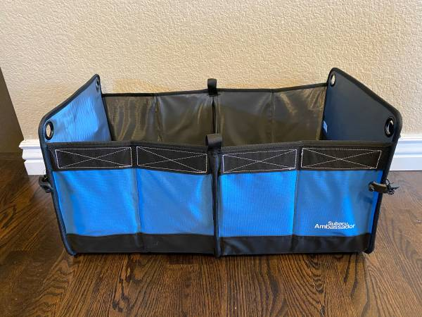 Photo New Subaru Trunk Organizer folds up and expands Subaru Ambassador - $15 (South Fort Collins)