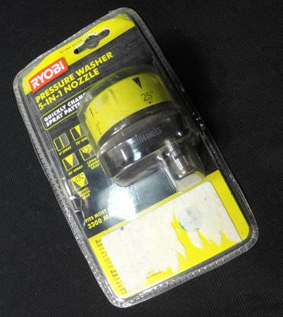 Photo RYOBI 5-in-1 3,300 PSI Gas and Electric Pressure Washer Nozzle - $25 (la salle)
