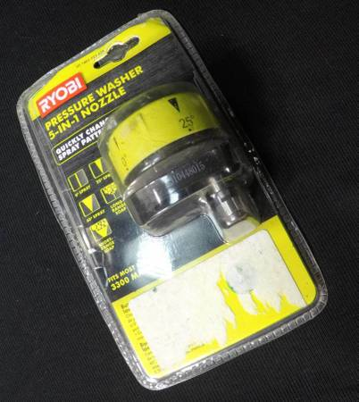 Photo RYOBI 5-in-1 3,300 PSI Gas and Electric Pressure Washer Nozzle - $20 (la salle)