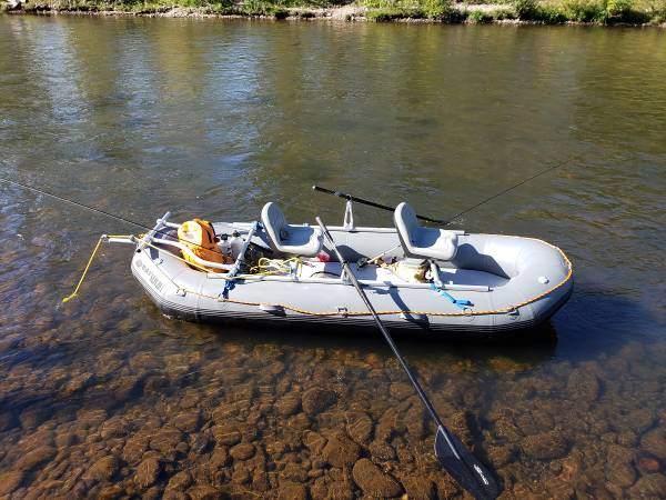 Photo Saturn Triton Whitewater Raft w3-Seat NRS Frame Guide Fishing Package - $4400 (Sumner)