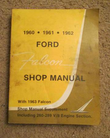 Photo Shop manual for Ford Falcon 1960-1963 - $25 (Fort Collins)