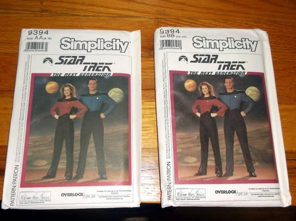 Photo Star Trek NG Uniform UNCUT patterns - $20 (Greeley)