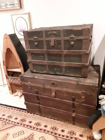 Photo Two Antique Steamer Trunk - $100 (Windsor)