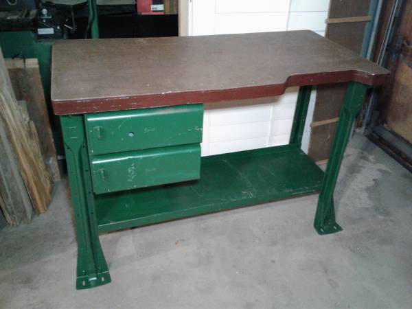 Photo Vintage Equipto industrial work bench  desk with drawers - $250 (SW Longmont)