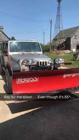 Photo Boss Sport Duty Snow Plow for 12 ton or small SUV - $2,500 (Manson)
