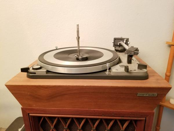 Photo Dual 1019 Turntable with new Ortofon stylus  Dual 45 adapter - $150