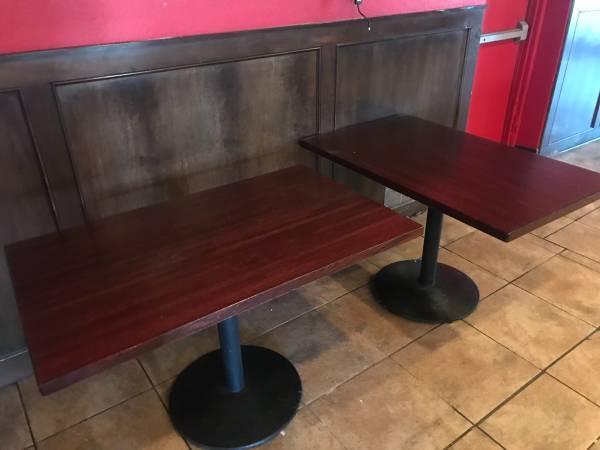 Photo Solid oak dining tables - $225 (Des Moines)