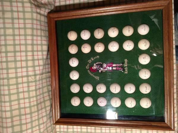 Photo golf ball display - $50 (Webster City)