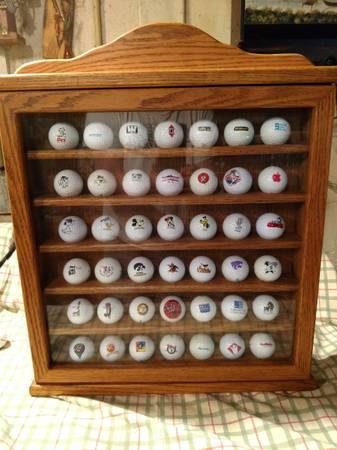 Photo golf ball show case - $40 (Webster City)