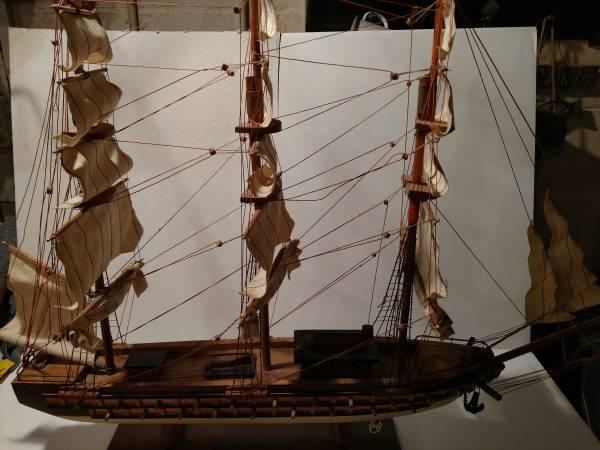 Photo vintage wooden sailing ship - $20 (Webster City)