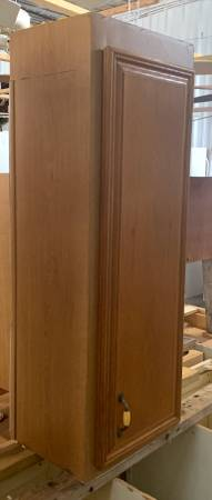 Photo 16quot Wide Brown Upper Cabinet W 1 Door 5 Shelves - Used - In Good Cond - $49 (Bonita Springs)