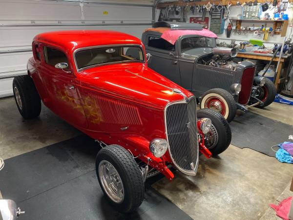 Photo 1933 Ford 5 window coupe high boy street rod real steel - $68,000 (cape coral)