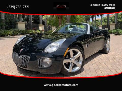 Photo 2008 Pontiac Solstice GXP 5-Speed Manual only 40k miles  WARRANTY  - $13,900 (Fort Myers)