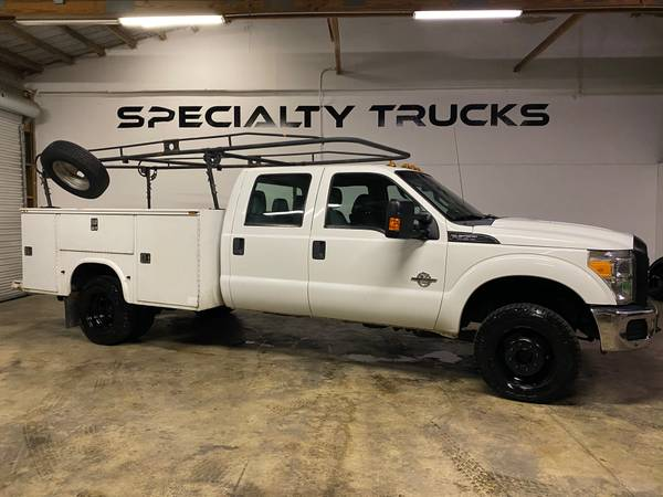 Photo 2012 Ford F350 Super Duty Crew with Utility bed 4x4 - $17,800 (fort pierce fl)