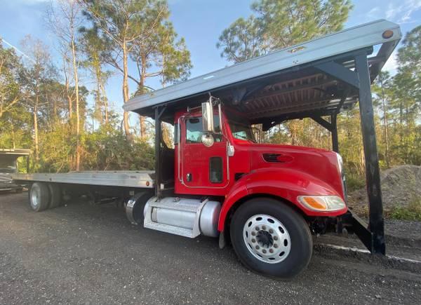 Photo 2012 Peterbilt 337 4 Car Hauler Flatbed Rollback Tow Truck - $34,000 (Fort Myers)