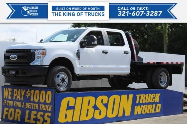 Photo 2020 Ford Super Duty F-350 DRW Chassis Cab Crew Cab Dually Flat - $55,995 (_Ford_ _Super Duty F-350 DRW Chassis Cab)