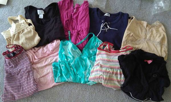 Photo $25 for all 10 Womens Tops size Large Aeropostale Roxy a.n.a. Forever - $25 (Naples off 951 near Vanderbilt Beach rd)