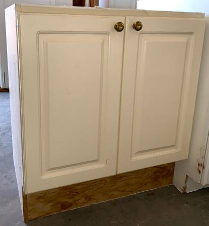 Photo 28quot Antique White Base Cabinet With 2 Doors Used In Good Condition - $69 (Bonita Springs)