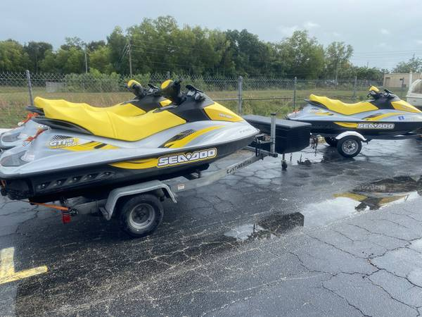 Photo 2 or 3 Sea Doo jet skis for sale with trailers - $11,750 (Fort Myers)