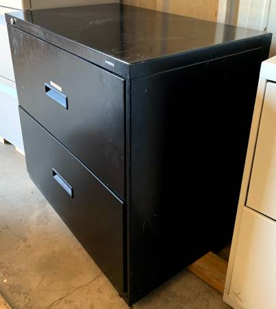 Photo 30quot Wide 2 Drawer Black Hon Lateral Filing Cabinet - Used In Good Cond - $59 (Bonita Springs)