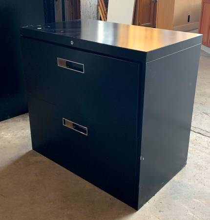 Photo 30quot Wide AllSteel Brand Lateral Filing Cabinet W 2 Drawers - Used IGC - $259 (Bonita Springs)