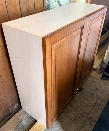 Photo 36quot Wide Brown Upper Cabinet With 2 Doors Soft Close Hinges - Used - $100 (Bonita Springs)