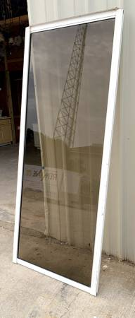 Photo 39quot Wide Set Of White Framed Glass Doors W Screen Door - Used - IGC - $329 (Bonita Springs)