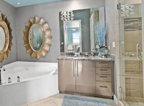 Photo 48quot Wide Brown Bathroom Vanity With Granite Top 4 Drawers - Used - $899 (Bonita Springs)