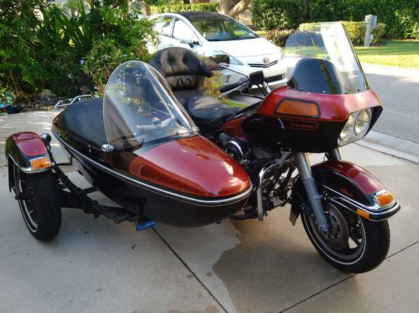 Photo 87 Harley Davidson FLTC Tour Glide Classic wFactory Sidecar - $9500 (Naples)