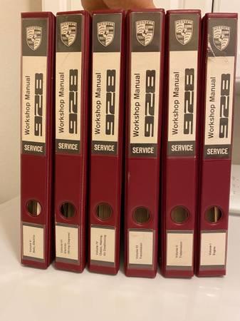 Photo 928 Porsche Dealer Service Manual 6 vol. Set - $499 (SW Cape Coral)