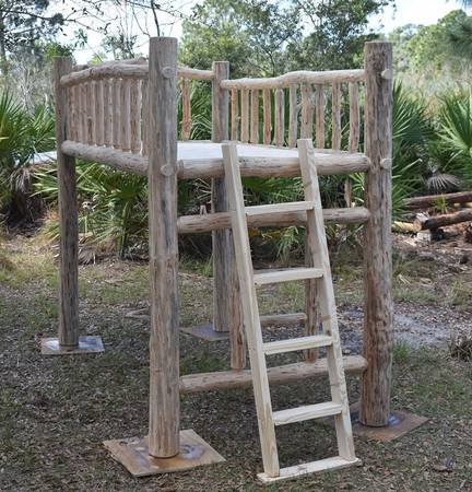 Photo Brand new rustic log twin loft bed - $450 (LEHIGH ACRES)