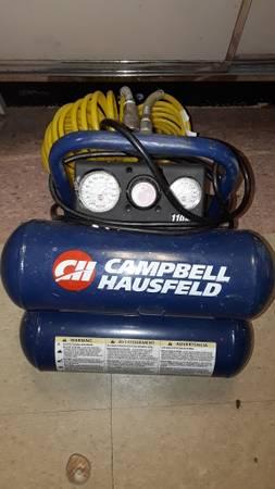 Photo Cbell Hausfeld Cbell Hausfeld 2 Gal. Twin-Stack Air Compressor - $89 (Fort Myers)