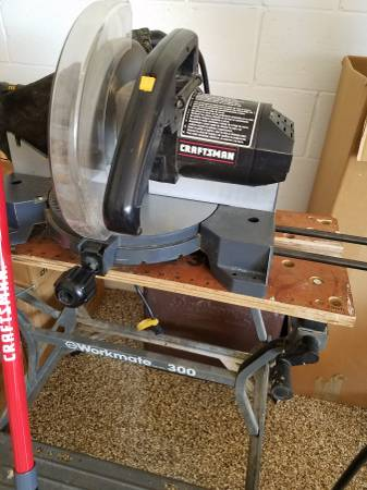 Photo Craftsman Table Saw and Workmate Bench - $100 (Banyon Hollow Loop)