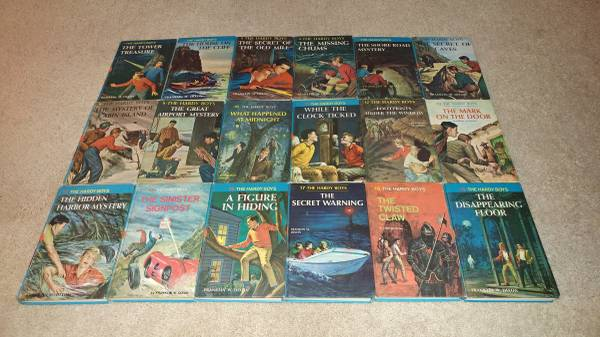 Photo Lot of 18 The Hardy Boys children39s mystery books 50s and 60s (Naples)