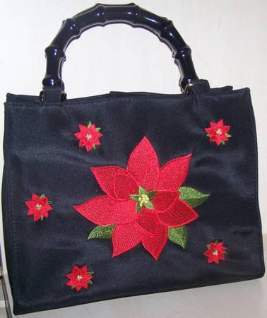 Photo Purse Handbag Christmas Holiday Black hand bag with Red NEW - $15 (Cape Coral)