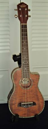 Photo RARE OSCAR SCHMIDT by Washburn, long neck, concert, AE ukulele - $150 (Fort Myers - South)