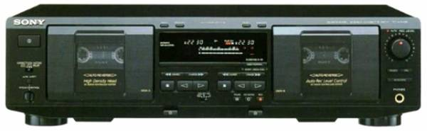 Photo SONY TC-WE435 DUAL STEREO CASSETTE DECK PLAYER RECORDER - $55 (Naples)