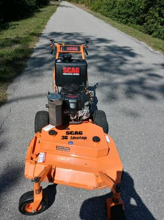 Photo Scag WalkRide behind Commercial Mower Like new - $2,500 (Naples)