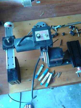 Photo Sherline Lathe and milling column - $1,000 (Cape Coral)