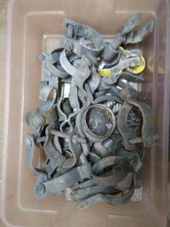 Photo Small box of chain link fence parts - $20 (Naples)